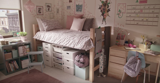IKEA dorm room ASMR Commercial video
