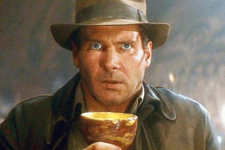 Indiana Jones holding the inbound marketing holy grail