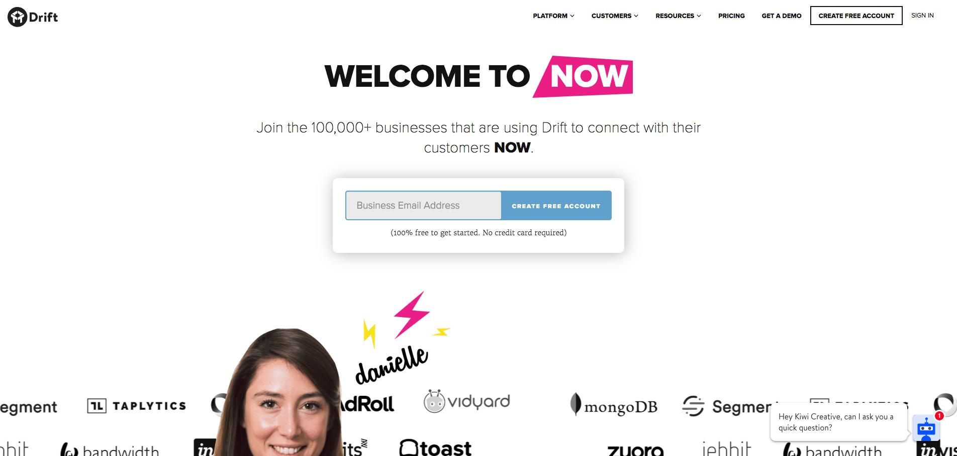 Drift.com homepage