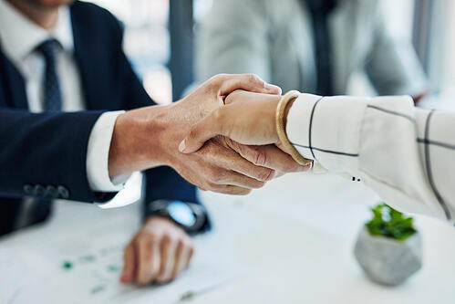 Bad example: business people shaking hands
