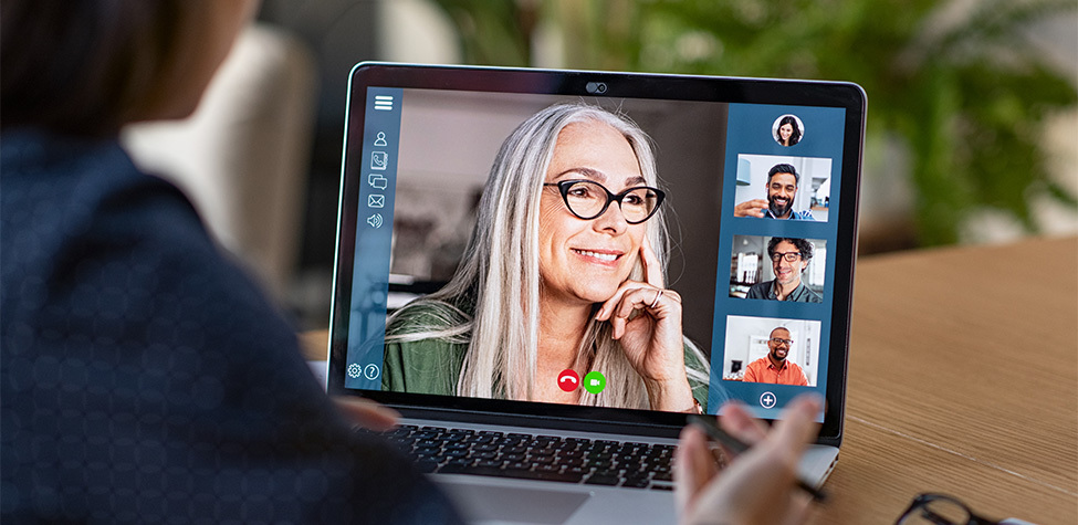 Remote work video conference call